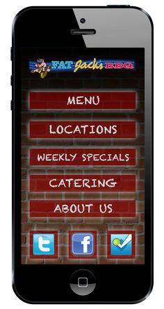 Fat Jack's mobile website.