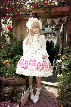 Beauty and the Beast~ Sweet Lolita Printed JSK Dress Version II
