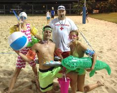 Easy No-Sew DIY Swimmers who Can't Swim Group Costume... Coolest Halloween Costume Contest