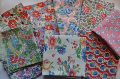 vintage fabrics  not sure if reproductions or not