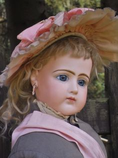 ~~~ Rare French Bisque Portrait Poupee by Jumeau ~~~ from whendreamscometrue on Ruby Lane