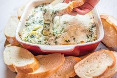This Copycat Spinach Artichoke dip is every bit as good as Applebee's and it's so easy to make! It'll be your new go-to dip recipe!