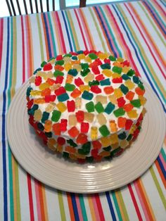 Gummy bear cake or could make into cupcakes for little guys