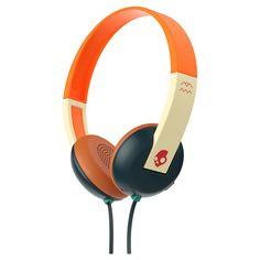 Skullcandy Uproar Wired On-Ear Headphones with Microphone - Navy/Orange (Blue/Orange)