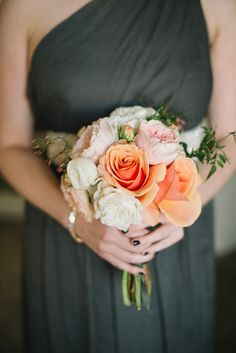 Loved this dress so much. Perfect wedding colors.  http://www.stylemepretty.com/2013/04/11/san-francisco-penthouse-wedding-from-delbarr-moradi-photography/