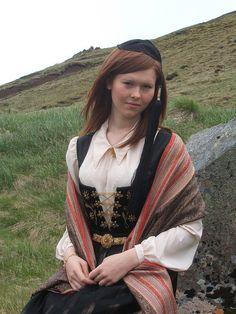 Girl from Iceland in her upphlutur