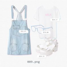 ryeou:  009.png // tee + overalls + glasses + shoes