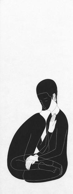 Dark Silence In Suburbia, Daehyun Kim Elephant Man, Arte Obscura, Love Illustration, Illustrations And Posters, Dark Art, Love Art, Art Inspo, New Art, Art Drawings