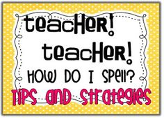 Little Minds at Work: Teacher! Teacher! How do I spell...? great tips to help those kiddos that want you to help with their spellings.  It's important to remember that writing time is actually a time of problem solving and thinking.  During writing students are able to focus and mature on both problem solving and thinking!  For young learners it's highly important to give students a concrete way to problem solve during writing.