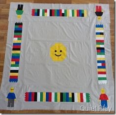 Lego play mat top - love this idea (includes link to patterns) #quilting #Lego