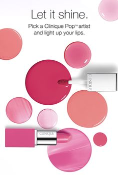 Let it shine. Pick a Clinique Pop(TM) artist and light up your lips.