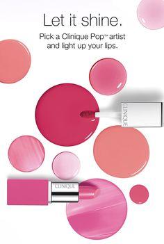 Let it shine. Pick a Clinique Pop(TM) artist and light up your lips.