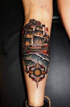 Chain-Stick-to-Course-Ship-Nautical-tattoo.jpg (397×604)