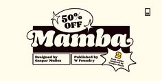 Mamba Font: Mamba is inspired by Cooper Black. Graphic Design Posters, Graphic Design Illustration, Graphic Design Inspiration, Typography Design, Branding Design, Logo Design, Lettering, Retro Typography, Layout Design