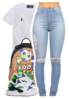 """""""Oct.24.2K15"""" by khiidamy4502 ❤ liked on Polyvore featuring Ralph Lauren, MCM München Cute Monsters, NIKE, women's clothing, women, female, woman, misses and juniors"""