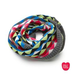 Simplement SYMPATHIQUE Snood / Cuello Multi Blue - Chic Sympathique