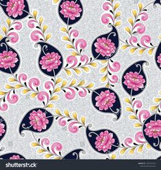 Find seamless flower and paisley pattern stock vectors and royalty free photos in HD. Explore millions of stock photos, images, illustrations, and vectors in the Shutterstock creative collection. of new pictures added daily. Border Design, Paisley Pattern, Royalty Free Photos, Flower Prints, Print Patterns, Digital Prints, Creative Resume, Texture, Resume Templates