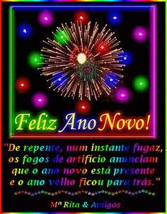 Feliz ano novo! De repente, num instante fugaz, os fogos de...