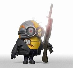 Minion Terminator - Terminator Funny - Minion Terminator The post Minion Terminator appeared first on Gag Dad. Minion Art, Despicable Minions, Evil Minions, Funny Minion, Minions 2014, Minion Stuff, Minion Dress Up, Funny Images, Funny Pictures