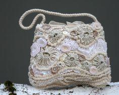 shades of white - embellished crochet purse (2010)