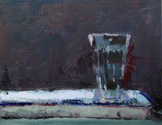 "Water Glass 11"" x 14"" oil on linen panel"