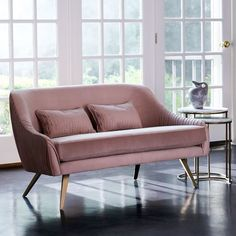 """west elm Roar + RabbitTM Glamour Velvet Sofa (60"""")"""