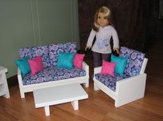 18 inch doll furniture set for