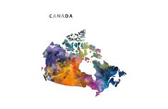 Canada  #canada #ottawa #america #state #map #art #prints #laptop #sleeves #bags #travel #colorful #gift