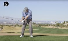 This is one of Butch Harmon's favorite drills for iron consistency. It'll have you making a full turn.