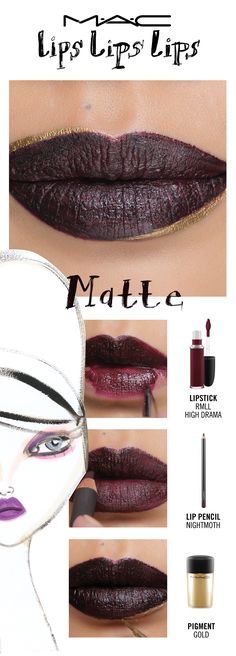 Don't be dra-MATTE-ic! Or do, in M·A·C's most popular texture, leveraged for looks that are classically gorgeous or fearlessly bold. Seen here in The Deco Matte. Try a lip trend, then make it your own! Your choice. Your creation. Your trend. Created by Senior Artist Melissa Gibson.