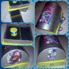 Cofresito Monster High,Alajero reciclado,Cajones(Tetrapack)