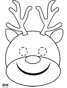 Rudolph Reindeer Template Printable Red Toes | Search Results ...