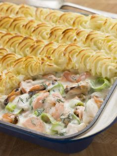 Leeks: 30 recipes for cooking them - Recette poisson - Salad Recipes Healthy Fish Recipes, Seafood Recipes, Seafood Dishes, Fishermans Pie, Fish Pie, Dinner Entrees, Party Entrees, Recipes Dinner, Dinner Salads