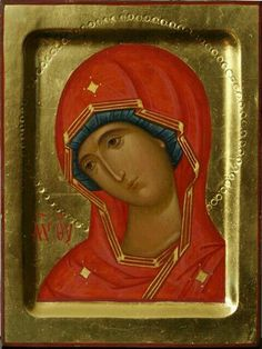 The icon of the Virgin Mary Religious Images, Religious Icons, Religious Art, Byzantine Icons, Byzantine Art, Russian Icons, Russian Art, Architecture Religieuse, Fortune Cards
