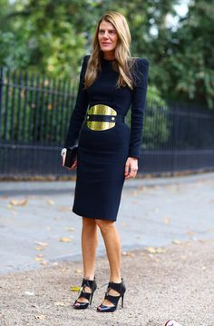 Anna Dello Russo.  LOVE this dress.  career style.  women's fashion.  street style.