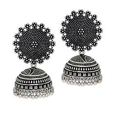 Jaipur Mart Oxidised Plated Jhumka Earrings Silver Jewellery Gift For Women Make an admirable gift for your Mother, Sister, Wife and Girlfriend. Small Earrings, Girls Earrings, Antique Jewellery Online, Jhumki Earrings, Silver Earrings, Silver Jewelry, Jewellery Earrings, Diamond Jewelry, Fashion Jewelry