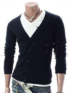 Cardigan Suéter Casual Masculino