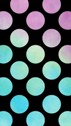 Polka dot wallpaper for iPhone or Android. Tags: polka dots, polkadot, design, backgrounds, mobile.