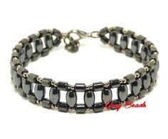 Grey Beads: Męska bransoleta z hematytu