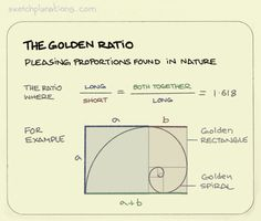 The golden ratio. The proportions of the golden ratio pop-up in all sorts of places in Nature and man-made things since early times and are a handy shortcut to make something we seem to find pleasingly proportioned. In photography, art, Nature,. Thinking Skills, Critical Thinking, Science And Nature, Art Nature, Social Design, Cultura General, Golden Ratio, Problem Solving Skills, Creativity And Innovation