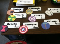 Avengers Door dec. 8 symbols, 8 girls... ;) @Erica George, @Anna Kabrich @Rachel Galbreath @Marina Pawlaczyk @Ana Forero