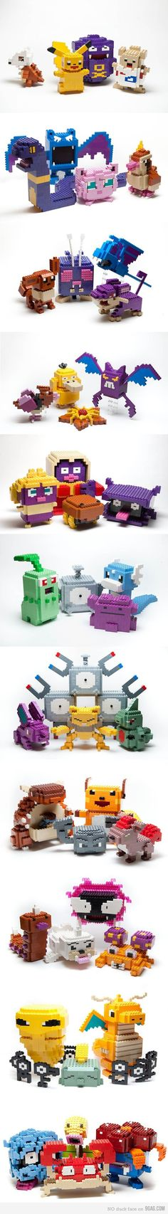 """Awesome lego sculptures are awesome"" I love legos!"