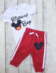 Birthday Boy Mickey Mouse First Outfit
