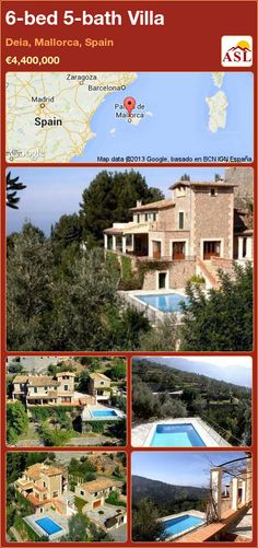 6-bed 5-bath Villa in Deia, Mallorca, Spain ►€4,400,000 #PropertyForSaleInSpain