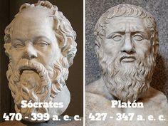 Sócrates (470-399 a.e.c.) y Platón (427-347 a.e.c) - 15 grandes frases de Sócrates para reflexionar