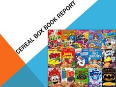 Cereal Box Book Report Directions Rubric  Example Photos