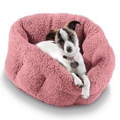 """An unreasonably comfy looking """"deep-dish"""" pet bed that will have you wondering whether or not it comes in adult human sizes."""