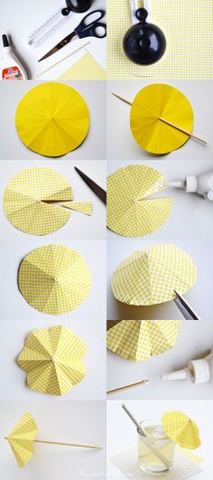 étapes DIY ombrelle cocktail
