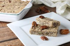 Maple Pecan FatBomb Bars / #lowcarb shared on https://facebook.com/lowcarbzen