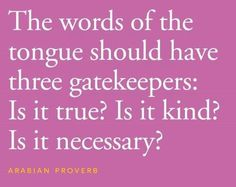 Gatekeepers for the tongue